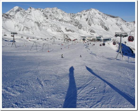 Австрия 2011. Stubaier Gletscher. Трасса №1а.