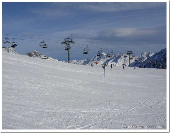 Австрия 2011. Stubaier Gletscher. Трасса №12.