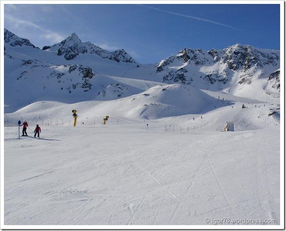 Австрия 2011. Stubaier Gletscher. Трасса №7.