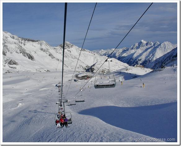 Австрия 2011. Stubaier Gletscher. Подъем на трассу №7.