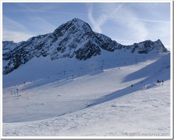 Австрия 2011. Stubaier Gletscher. Трассы 7а, 1, 1а.