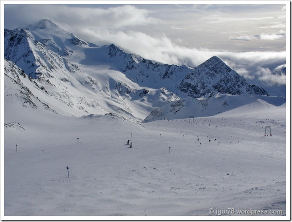 Австрия 2011. Stubaier Gletscher. Трасса №5а.