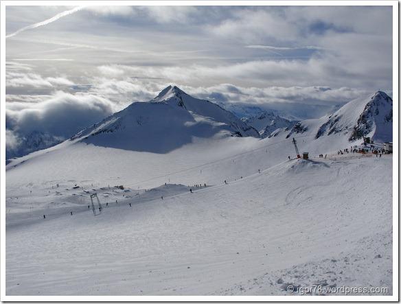 Австрия 2011. Stubaier Gletscher. Трасса №5.
