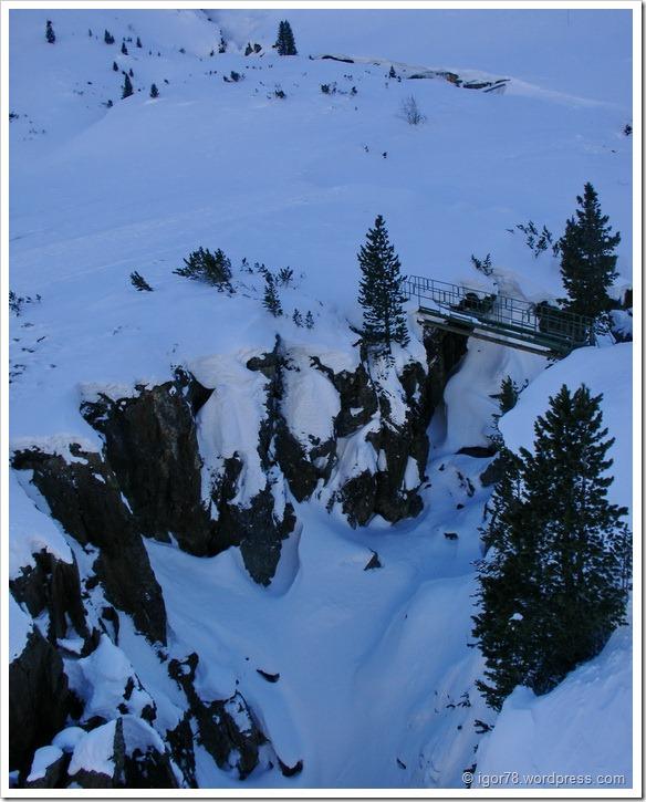 Австрия 2011. Stubaier Gletscher. Вид из кабинки.