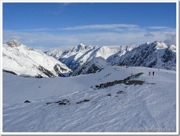 Австрия 2011. Stubaier Gletscher. Трасса №16.