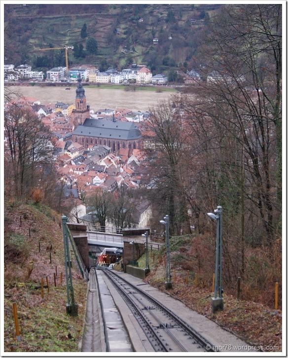 Смотровая площадка с верхней станции фуникулера в Гейдельберге (Heidelberg)