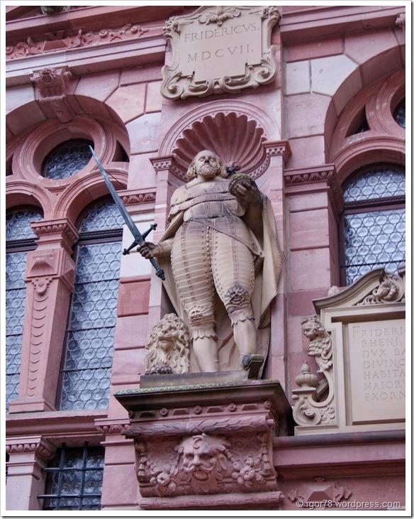 Внутренний двор замка Гейдельберга (Heidelberg)
