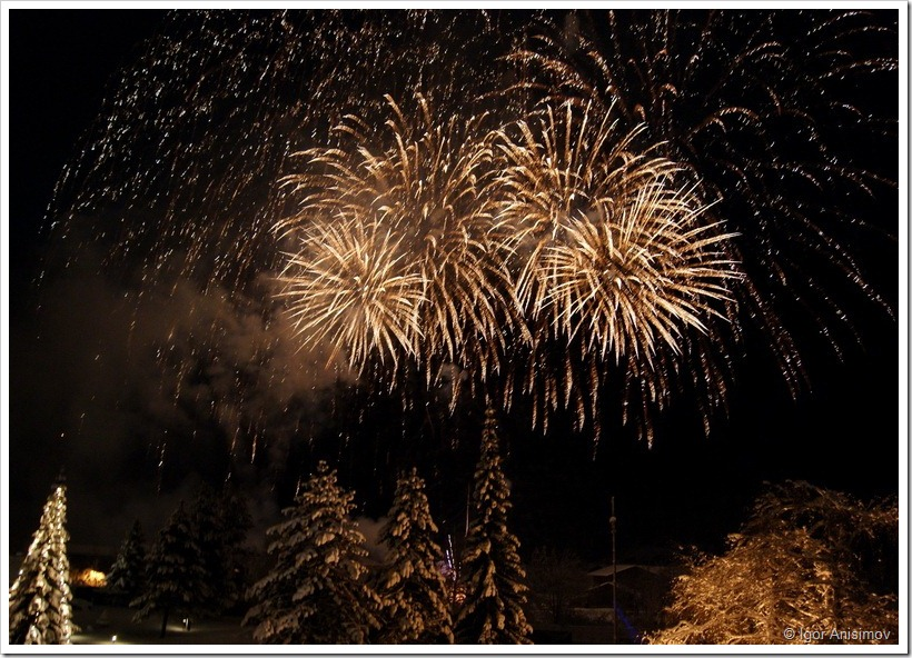 Австрия 2012. Фейерверк на Рождество