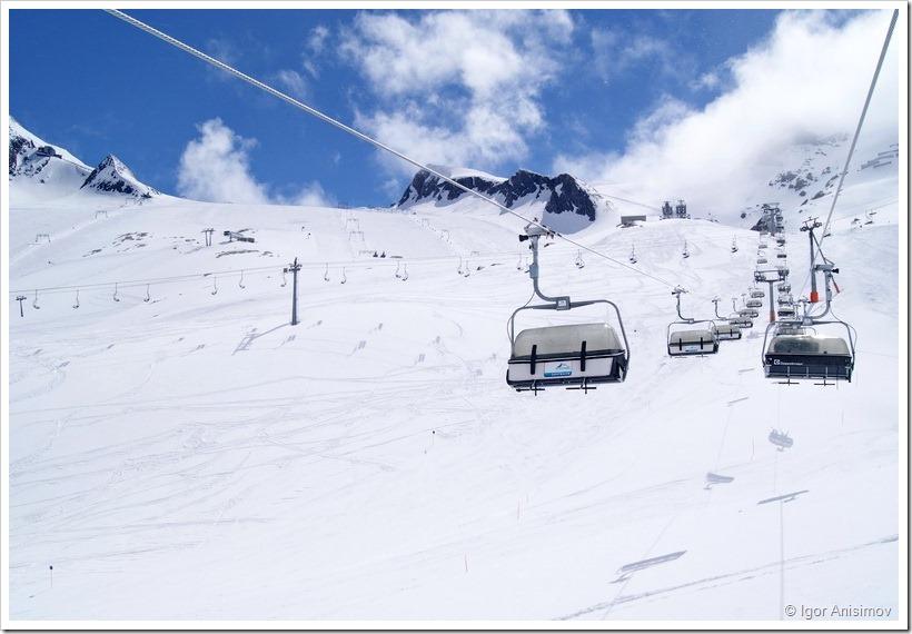Автопробег 2012. Kaprun-Kitzsteinhorn. Закрытие лыжного сезона.