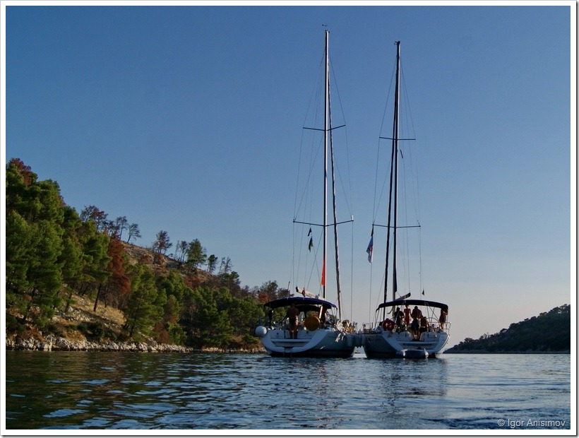 Хорватия 2012. Неделя на яхте