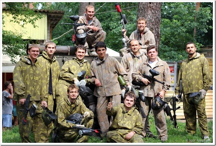 """Киев 2013. Пейтбол в """"Гепарде"""""""