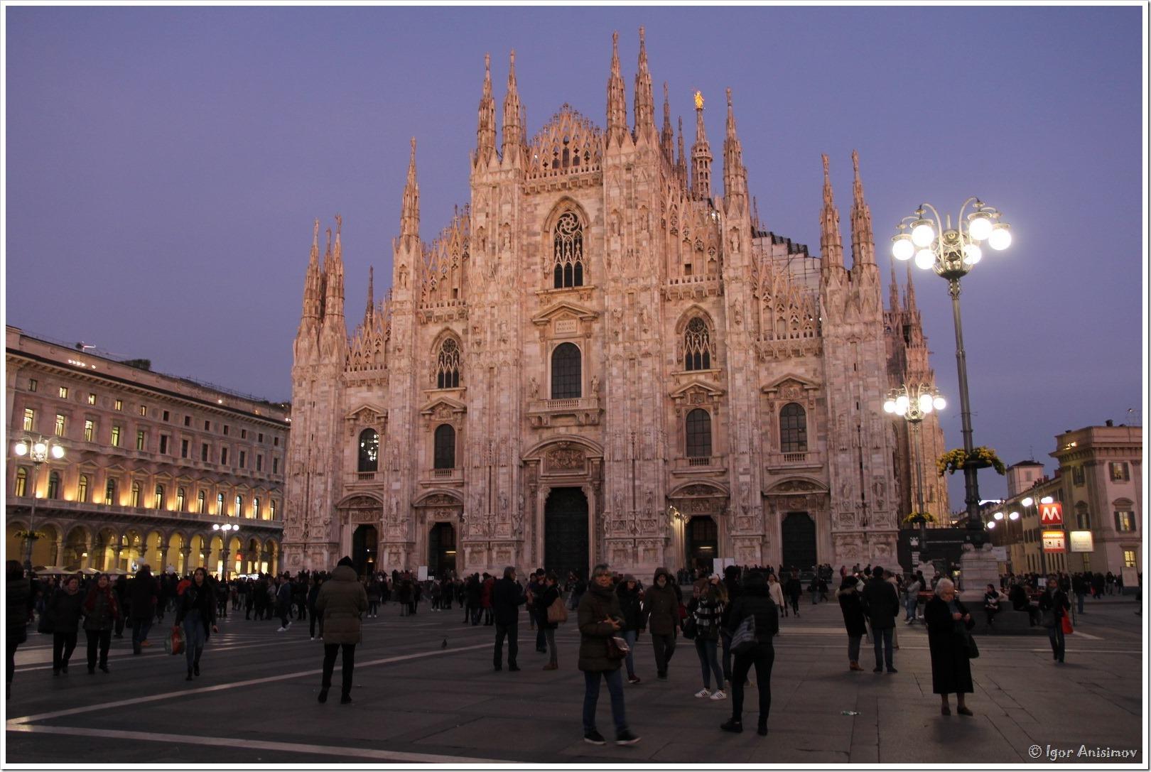 Италия 2016. Вечер в Милане